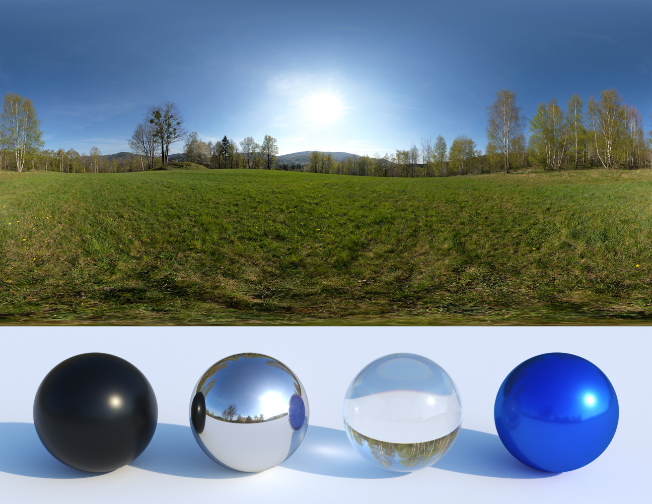 Mountain meadow hdri